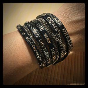 Leather Inspirational Wrap Bracelet 💫